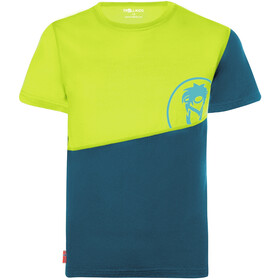TROLLKIDS Sandefjord T-shirt Børn, gul/petroleumsgrøn